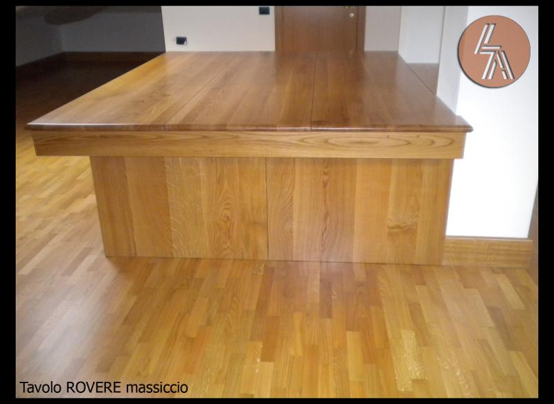 Tavolo in rovere massiccio with tavoli rovere sbiancato for Tavolo rovere sbiancato